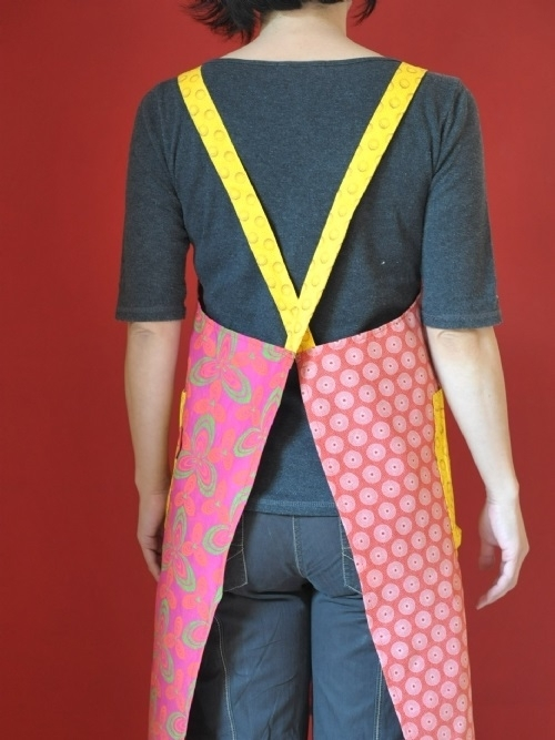 Adults Shweshwe Criss-Cross Apron