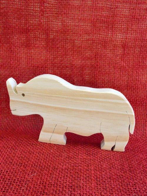 Wooden Rhino
