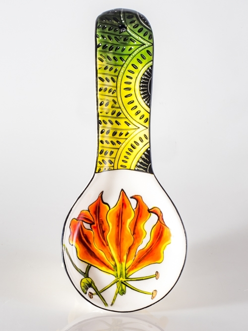 Spoon Rest Flame Lily