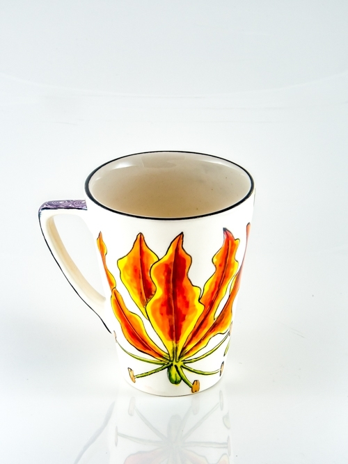 Coffee Mug Flame Lily