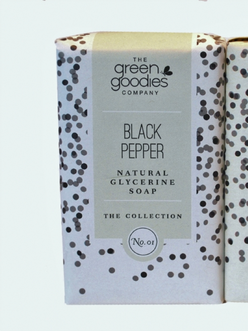Green Goodies Natural Glycerine Soap Black Pepper 160g