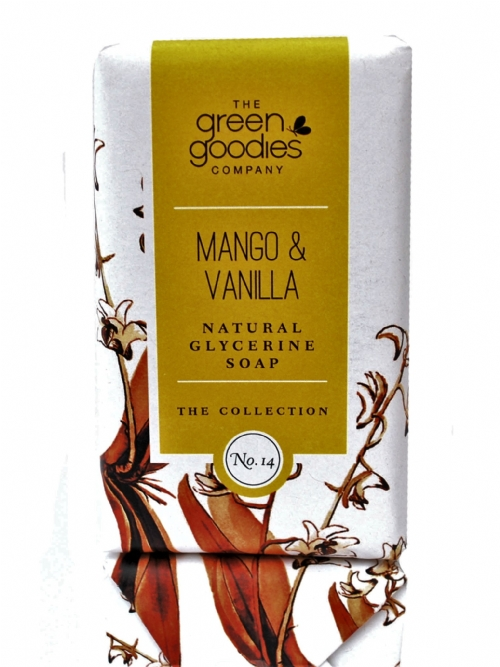 Green Goodies Natural Glycerine Soap Mango & Vanilla 160g