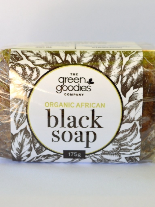 Green Goodies Organic African Black Soap 175g