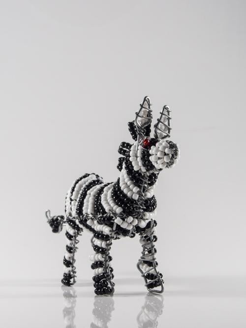 Zebra Keyring/Zip-Puller