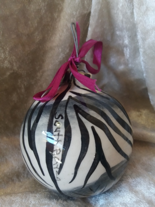 Hanging Ornament Black and White Zebra Print