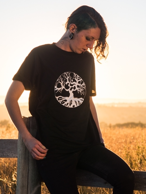 Om/Tree of Life T-Shirt (Black)