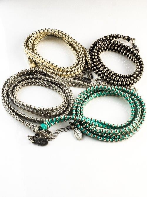 Woven Wrap Around Bracelet Pewter