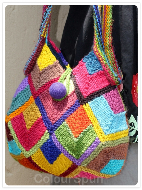 Modular Diamonds Bag - Pure Merino (knit)