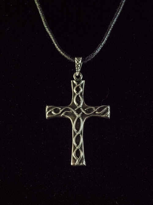 Celtic Cross Plaited Pendant