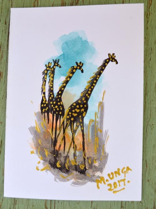 Giraffes Gathering 2