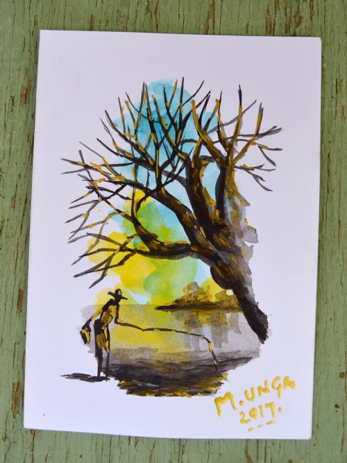 Baobab At A Lake