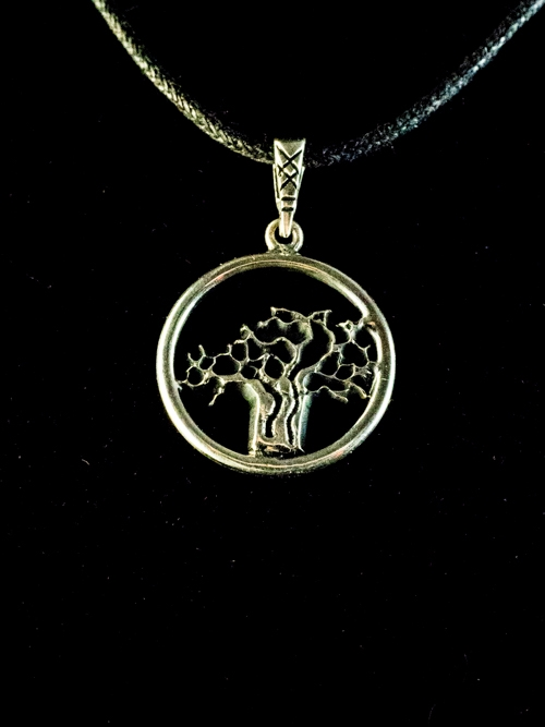 Baobab Tree in Circle Pendant