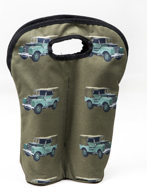 Wine Carrier Bag - Land Rover Print