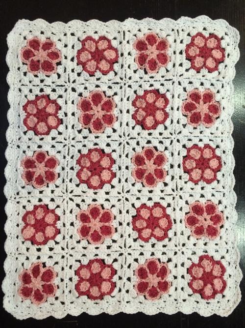 Flower Granny Cot Blanket