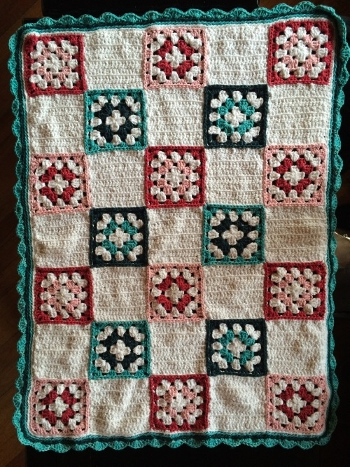 Patchwork Granny Square Cot Blanket