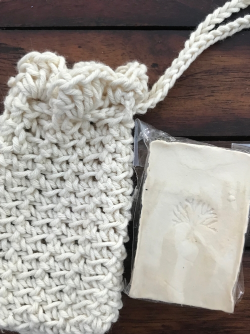 Soap Bag With Bar Of Soap - Natural