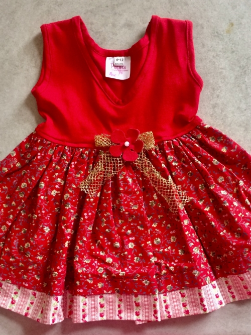 Dress - Floral Red