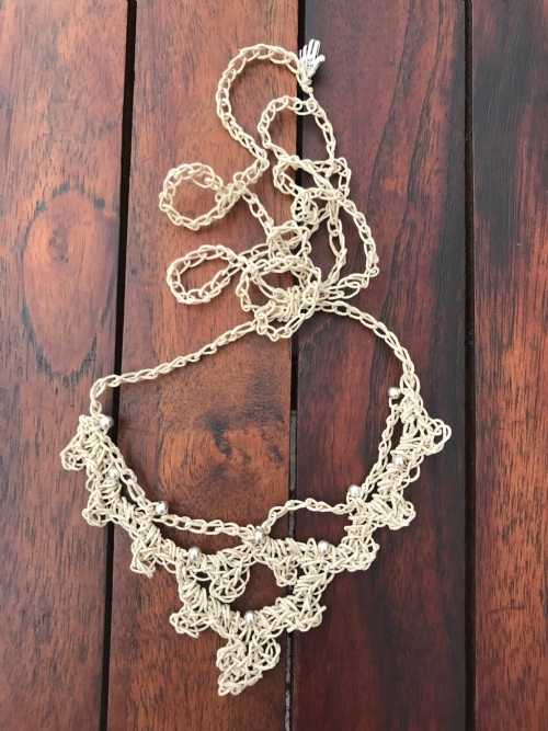 Irish Crochet Necklace (Hemp)