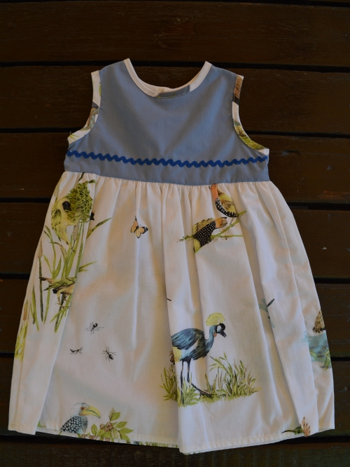Dress Birds Of Africa - Blue