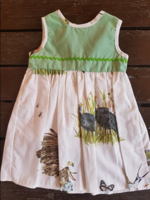 Dress Birds Of Africa - Green