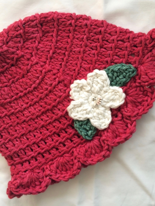 Miss Muffet Girls Hat - Raspberry