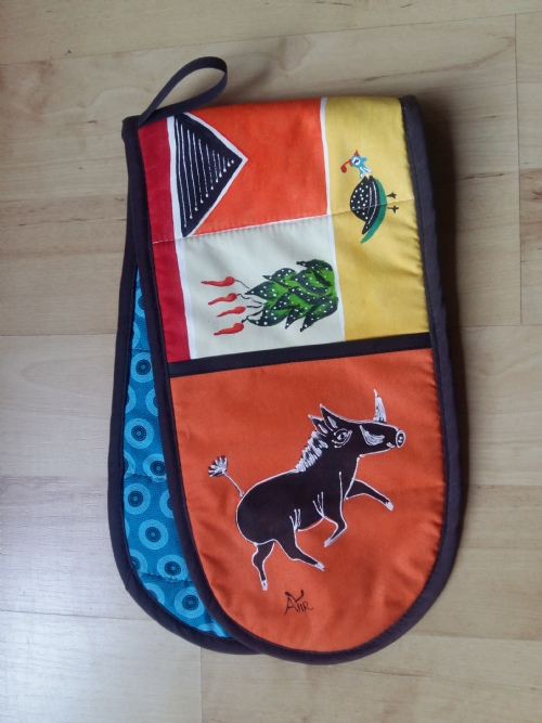 Double Oven Gloves Warthog - Orange