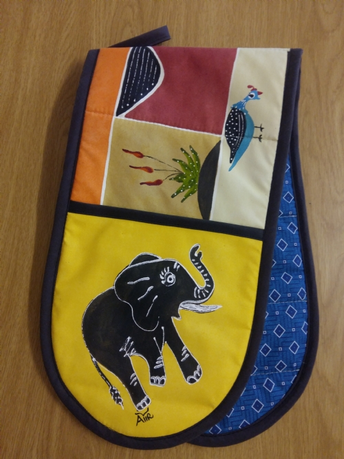 Double Oven Gloves Elephant & Aloe