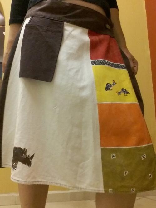 Wrap Skirt Rhino & Guinea-Fowl