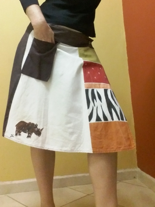 Wrap Skirt Rhino & Zebra