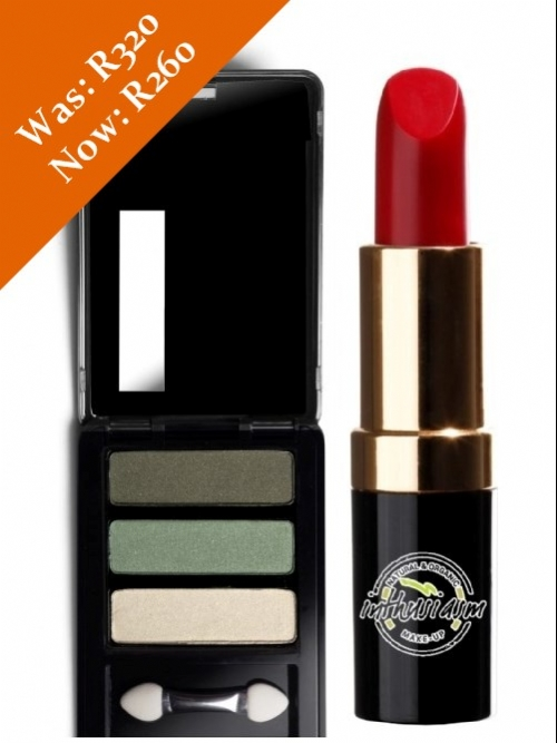 Eye Shadow & Lipstick Special (Green/Rose Red)
