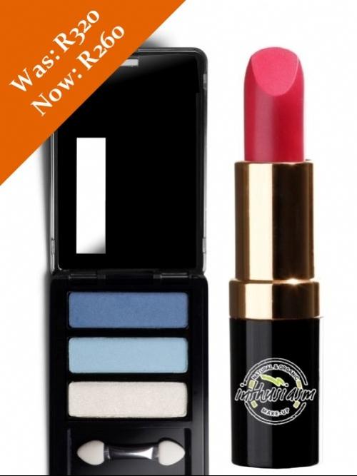 Eye Shadow & Lipstick Special (Blue/Dark Pink)