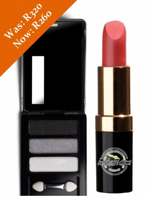 Eye Shadow & Lipstick Special (Charcoal/Coral)