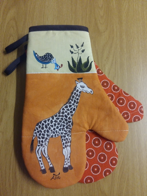 Oven Gloves Giraffe
