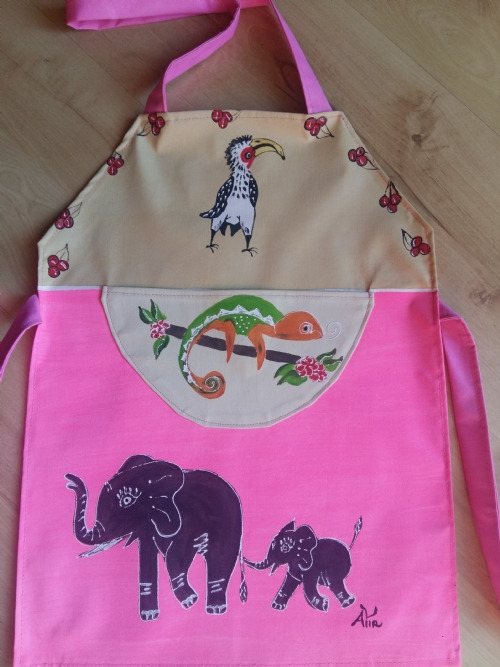 Children Apron Elephant & Hornbill