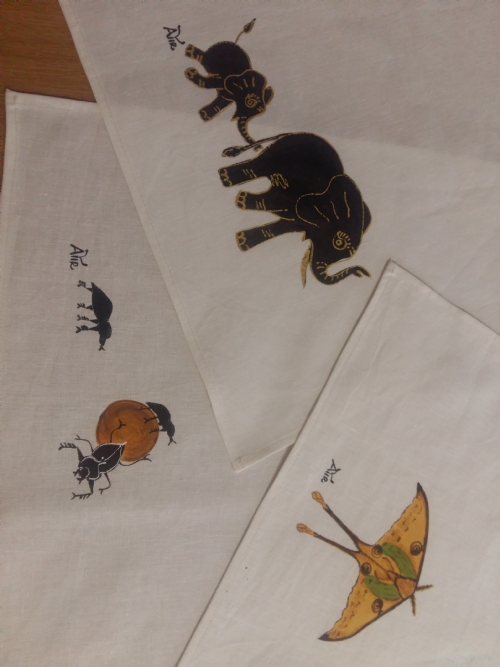 Hemp Dish Towel African Wildlife