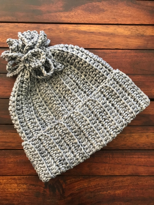 Ribbed Beanie - Blue-Grey