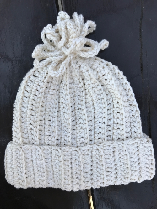 Ribbed Beanie - Natural