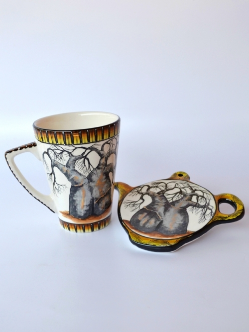 Mug & Teabag Holder Set