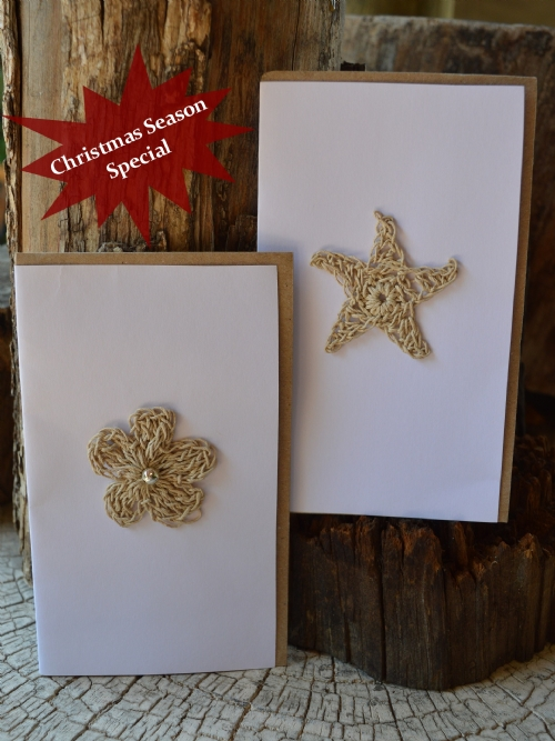 Greeting Cards Set - Star & Flower