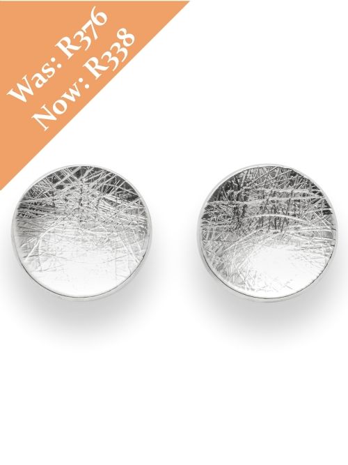 Silver Round Shape Stud Earrings