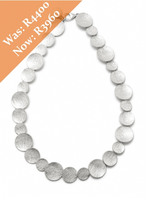 Silver Solid Round Disc Neck Chain