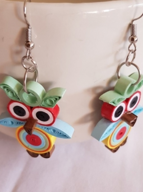 Quilling Owl Earrings