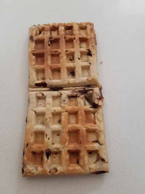 Choc Chip Waffle - frozen (can be heated in toaster)