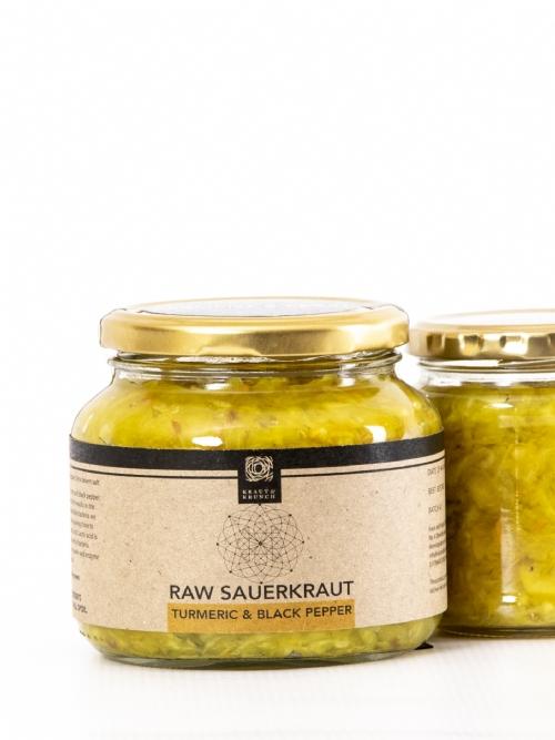 Raw Sauerkraut - Turmeric & Black Pepper, 500ml