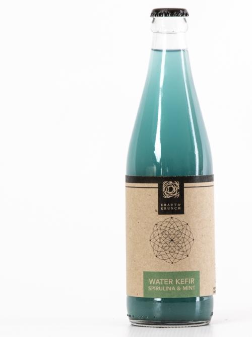 Water Kefir - Spirulina & Mint, 750ml