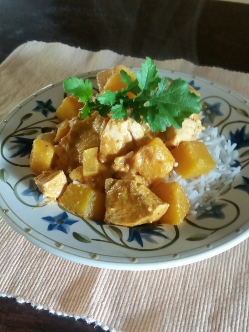 Free Range Chicken and Butternut Korma and Basmati Rice, frozen