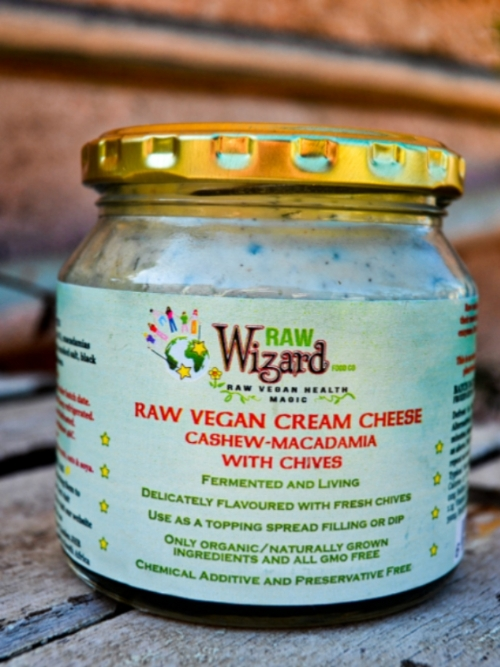 Vegan Cream Cheese - Cashew Macadamia Chives, 260g