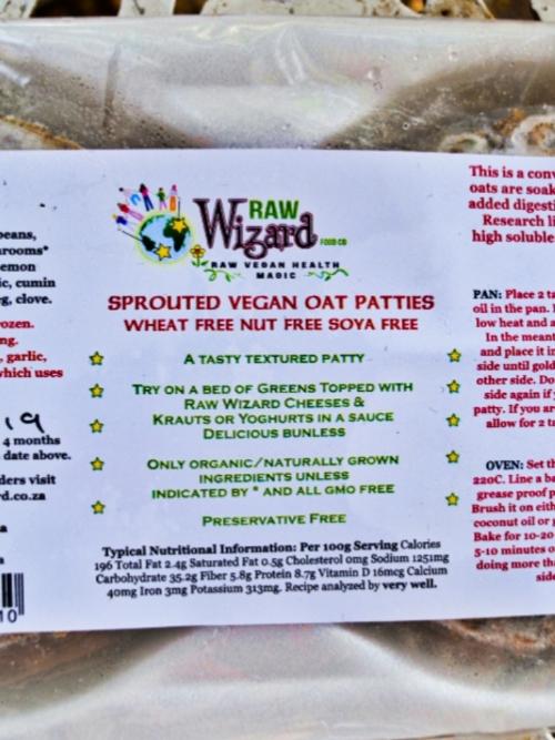 Vegan Burger Patties - Sprouted Oat