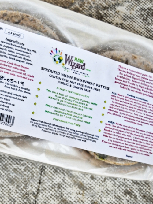Vegan Burger Patties - Sprouted Buckwheat, 4 x 100g