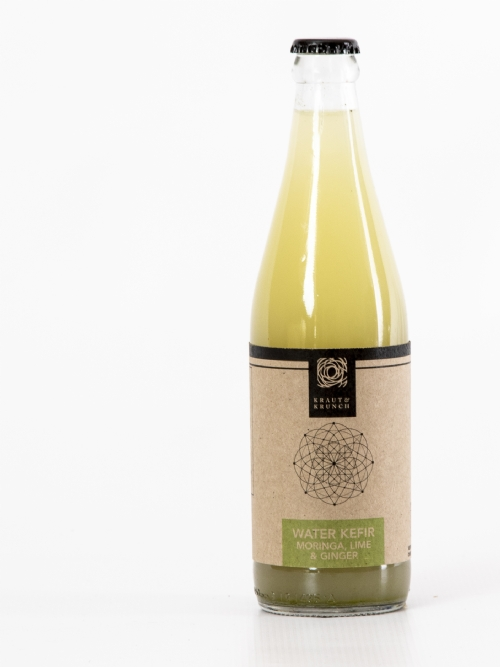Water Kefir - Moringa, Lime & Ginger, 750ml